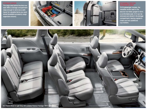 Toyota Sienna Interior Amazing Design