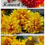 {DIY} Harvest Floral Wreath