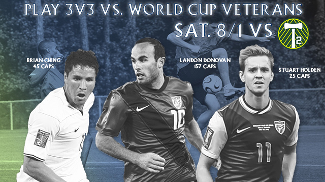 Play 3v3 with the Top U.S. Goal Scorer of All Time, Landon Donovan
