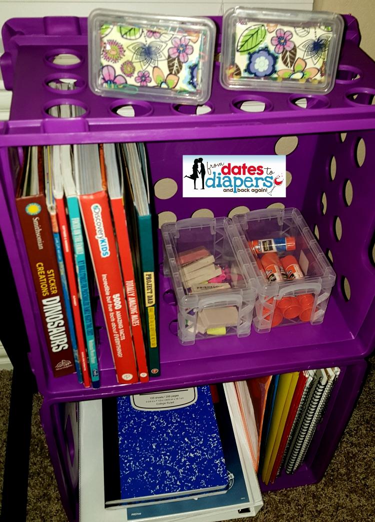 Storage Crates keeps supplies organized