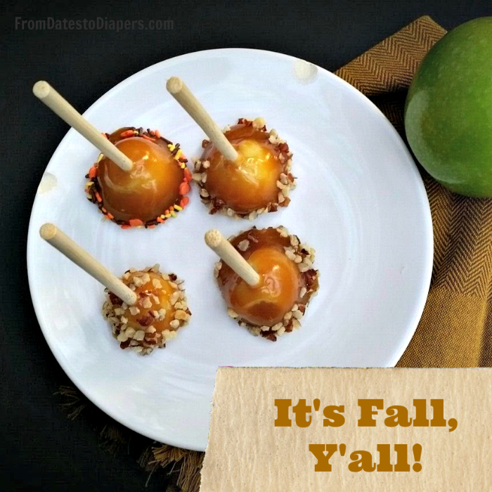 It's Fall, Y'all - Make yourself some Mini Caramel Apple Bites