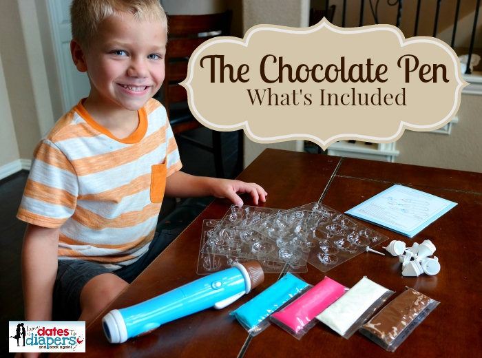 The Chocolate Pen - What's Included