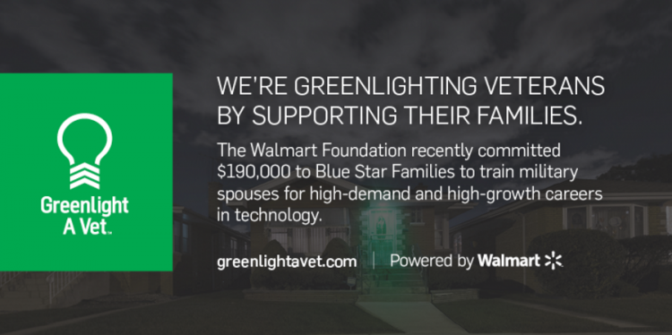 Greenlight A Vet | Powered by Walmart