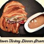 Leftover Turkey Dinner Stromboli