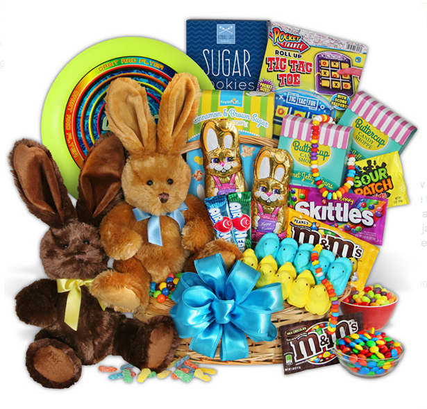 Last minute easter baskets free shipping available from dates double bunny easter baskets negle Images