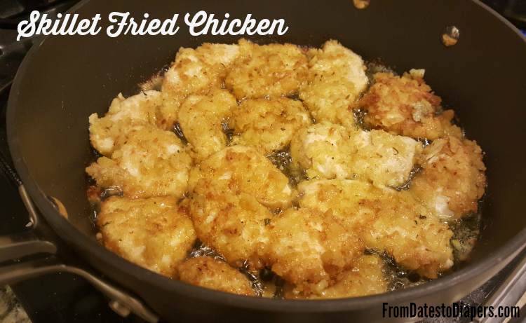 Skillet Fried Chicken | recipe at FromDatestoDiapers.com