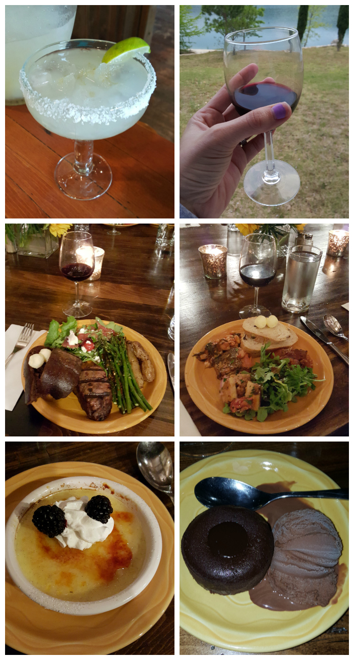 A sampling of the Food at Camp Connect