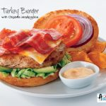 BLT Turkey Burger with Homemade Chipotle Mayo {Recipe}