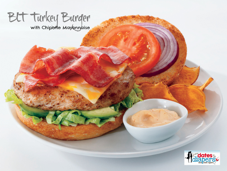 BLT Turkey Burger with Chipotle Mayo | Recipe the recipe on FromDatestoDiapers.com