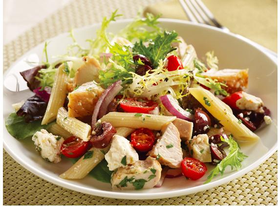 Mediterranean Turkey Pasta Salad   Find the recipe at FromDatestDiapers.com
